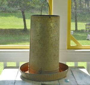 Vintage Hanging Chicken Feeder