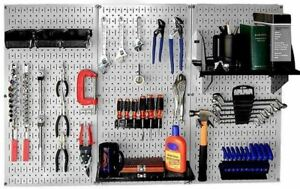 Pegboard Tool Organizer Workbench Metal Heavy Duty Pegboards Tools Storage Kit