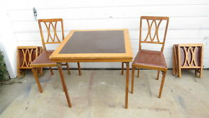 Antique Streamline Trailer Folding Table And Chairs E G O Matic Ny 1950 S