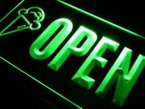 Lite Signs Ice Cream Cones Open Sign led Performance Neon Color