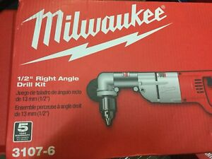 Milwaukee 3107 6 7 Amp 1 2 In Corded Heavy Right angle Drill Kit