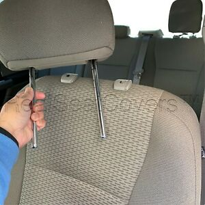 Bm 4pc Front 2 Low Back Bucket Seat Cover Automotive Grade Thick Triple Stitched