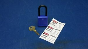 Lot Of 6 Master Lock 406blu Blue Lockout Padlock Keyed Differently