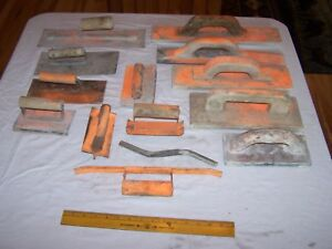 14 Used Concrete Tools Wood Metal Joints Grooves Edges Hand Floats