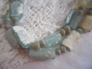 Antique Ancient Roman Glass Pieces Jewellery Beads Necklace Or Bracelet Jewelry