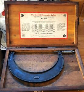 Starrett Outside Micrometer Caliper No 436 Rang 8 9 Free Shipping