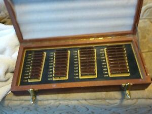 Vintage Rare Starrett moore Spec Tool Co Gages In Wooden Box