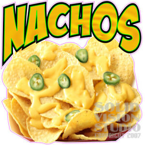 Nachos With Cheese chips peppers photo Concession Trailer Food Truck Sign Decal