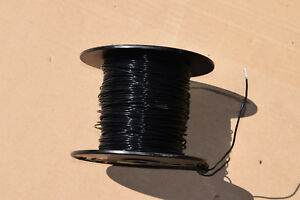 New Thermax 750 Teflon Silver Plate Wire 16 Awg Black M16878 4 bje 000 Guar