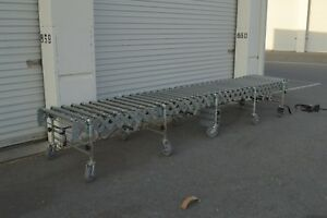 Flexible Powered Conveyor Nestaflex Power 100 120volts Multi Speed 2 Sections