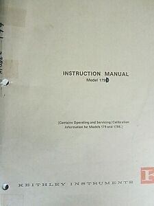 Keithley Instruments Model 179 1788 Instruction Manual