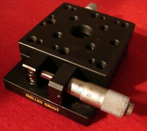 Melles Griot Linear Translation Stage With 1 Opt Mount And Vernier Micrometer