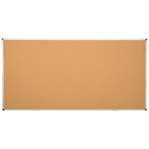Large Cork Bulletin Board W aluminum Frame 96 X 48 Lot Of 1