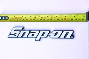 Snap On Tools Toolbox Logo Nameplate Brand New W Mounting Adhesive Collectable