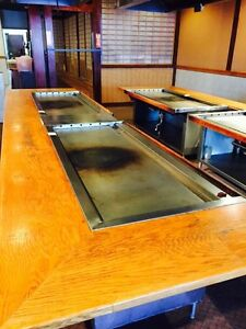 Used Gas Hibachi Grill Griddle Self Contained W Stainless Cabinet Undershelf