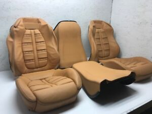 2014 Ferrari California F149 Tan Leather Daytona Front Seat Covers Oem