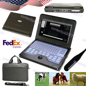 Us Fedex vet Veterinary Portable Ultrasound Scanner Laptop Machine 7 5mhz Rectal
