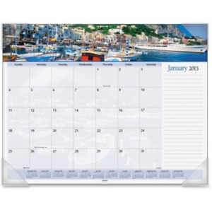 At a glance 2014 Harbor Views Monthly Desk Pad 22 X 17 Inches Dmd145 32