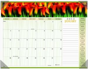 At a glance 2014 Monthly Floral Panoramic Desk Pad 22 X 17 Inches 89805
