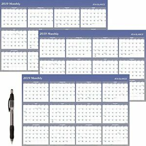 At a glance A1152 18 Yearly Wall Planner January 2019 December 2019 48 X 3