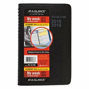 At a glance Weekly monthly Planner appointment Book Quicknotes Academic Year