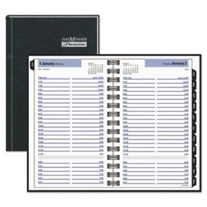 Dayminder Premi re Recycled Daily Appointment Book 5 X 8 Inches Black 2013