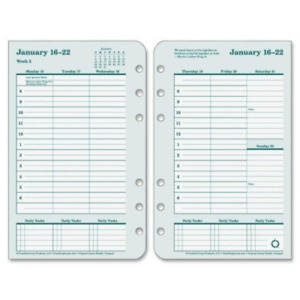 Franklin Covey 2017 Dated Weekly monthly Planner Refill 4 25 X 6 75 Inch