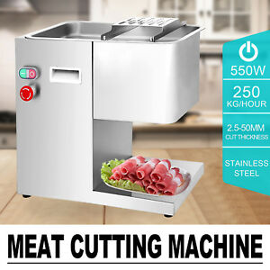 250kg h Stainless Steel Meat Cutting Machine 550w Slicing Commercial Cutting