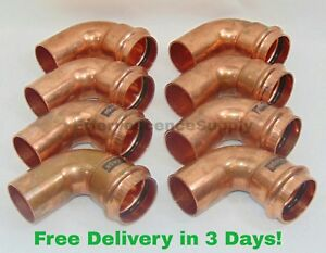 lot Of 8 1 1 2 Propress X Ftg Copper 90 Street Elbows Viega Propress