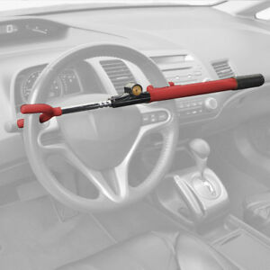 Car Security Steering Wheel Lock Anti Theft Device W 2 Keys Universal Fit
