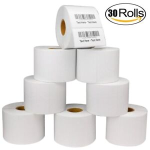 30 Rolls 2 25x1 25 Direct Thermal Shipping Labels Zebra Lp2824 Zp 450 1000 roll