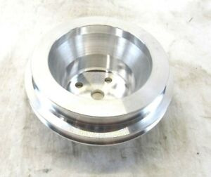 Big Block Chevy 454 Aluminum Long Water Pump Pulley 2 Groove Satin Bpe 5003