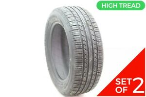 Set Of 2 Driven Once 205 55r16 Michelin Premier A S 91h 8 5 32