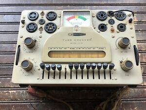 Vintage Heathkit Tube Checker Model It 17 Powers On