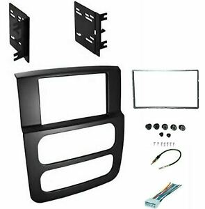 High Grade Dash Kit Dodge Ram 02 05 Double Din Stereo Install Black Package