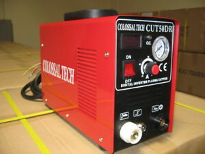 Plasma Cutter Cut50dr Digital New Inverter 110 220dual Includes 80 Consumables