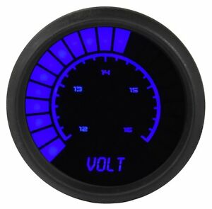 Jegs 41480 Voltmeter Led Bar Graph 7 0 25 5 Volts 0 1 Volt Increments 2 1 16 In