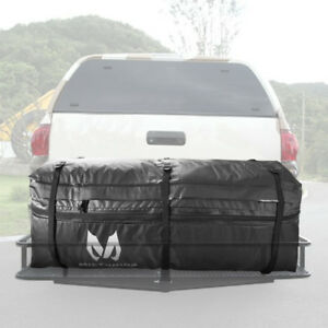 Mictuning Cargo Bag Rainproof Expandable Hitch Tray Carrier For Car Truck Suv