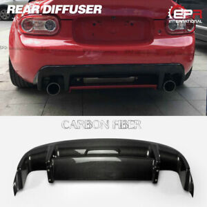 Carbon Fiber Gvn Style Rear Diffuser Centre Flap For Mx5 Nc Ncec Roster Miata