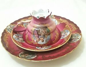 Mitterteich Baveria Tea Set Cup Saucer Plate Rare Find Mint Condition