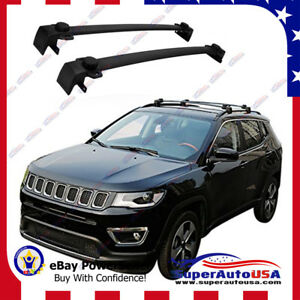 Fit For Jeep Compass 2017 2020 Cross Bar Baggage Roof Rack Oe Style Crossbars