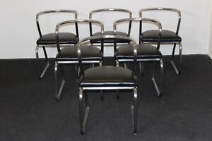 Vintage 1930 S Streamlined Art Deco Hoffman Rohde Weber Dining Chairs