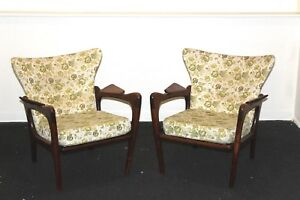 Vintage Adrian Pearsall Craft Associates Pair Of Lounge Chairs Seldom Seen