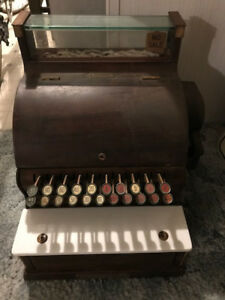 Early 1900 S National Cash Register Marble Plate Works