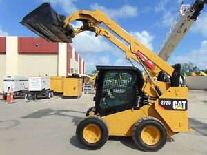 2016 Cat 272d Turbo 2 Speed ice Cold A c Hydraulic Coupler Big 98 Hp Turbo