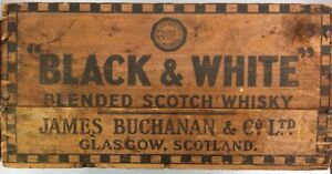 Rare San Francisco Nice Black White Scotch Whisky Wooden Shipping Crate Box
