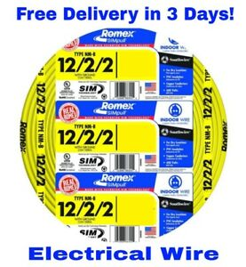 12 2 2 W ground Romex Indoor Electrical Wire 50 Feet