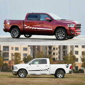 Decal Sticker Side Stripes Graphics l Racing For Dodge Ram 1500