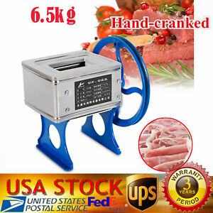 Small Hand cranked Meat Grinder Slicer Meat Cutting Machine Manual Meat Grinder