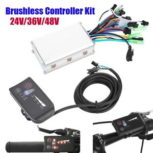 250 350w Electric Bicycle Scooter Brushless Controller Kit Ebike Led Display New